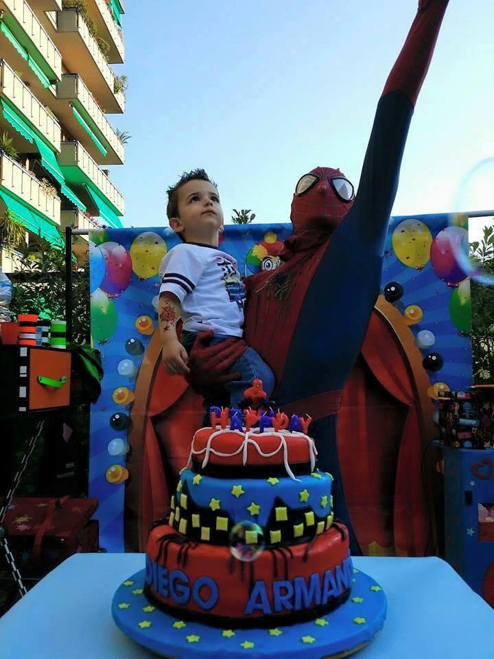 Costume da spider man per feste bambini uomo ragno