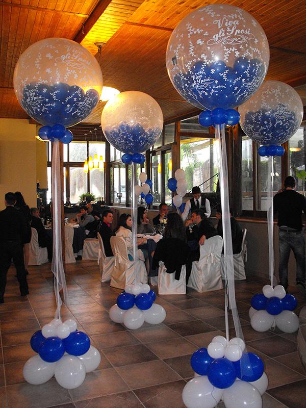 Addobbi con palloncini per battesimo xz16 pineglen - Decorazioni matrimonio palloncini ...